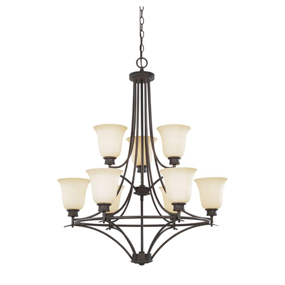 Designers Fountain Montreal 9-Light Oil Rubbed Bronze Hanging Chandelier