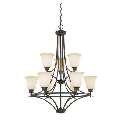 Montreal 9-Light Oil Rubbed Bronze Hanging Chandelier