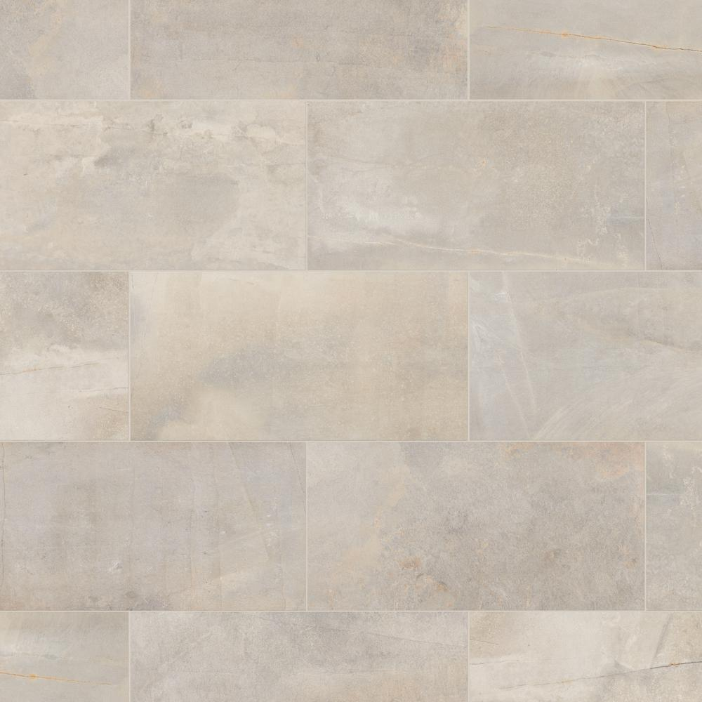 Marazzi Developed By Nature Pebble 12 In X 24 Glazed Porcelain Floor And