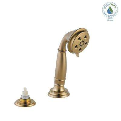 Cassidy 3-Spray Handheld Showerhead with Transfer Valve in Champagne Bronze