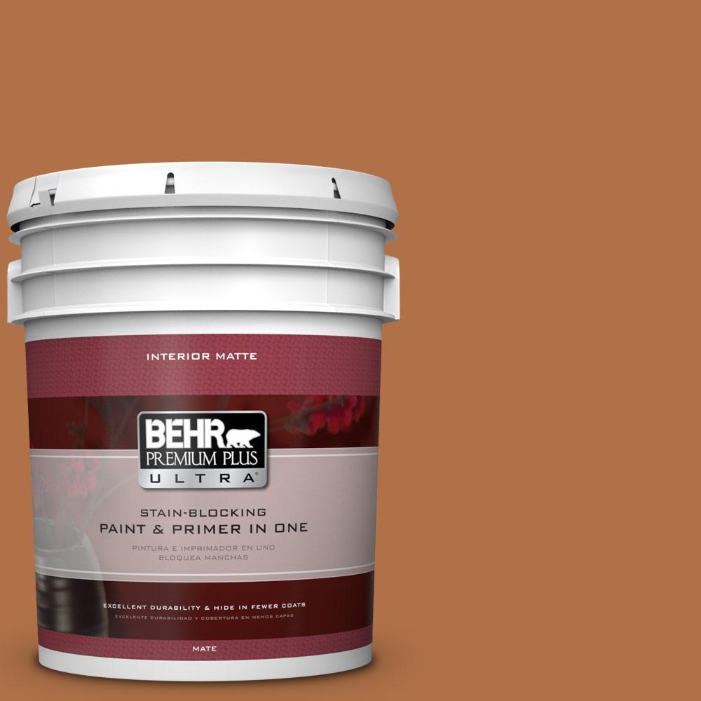 BEHR Premium Plus Ultra 5 gal. #PMD-41 Copper Mine Flat/Matte Interior Paint