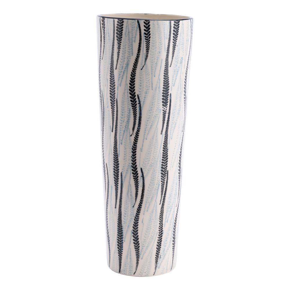 Zuo White And Black Espiga Tall Decorative Vase