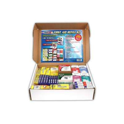 1033-Piece 4-Shelf First Aid Station Refill Kit