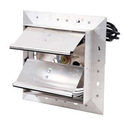 300 CFM 8 in. Shutter Mounted Variable Speed Exhaust Fan, Extruded Aluminum Frame, Rust Proof