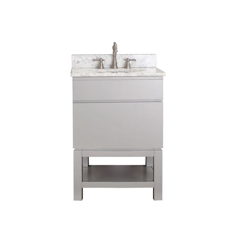 Avanity Tribeca 24 in. Vanity Cabinet Only in Chilled Gray