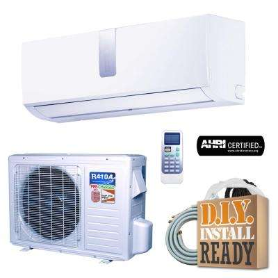 Super Efficiency 12,000 BTU 1 Ton Inverter Ductless Mini Split Air Conditioner and Heat Pump - 110V/60Hz