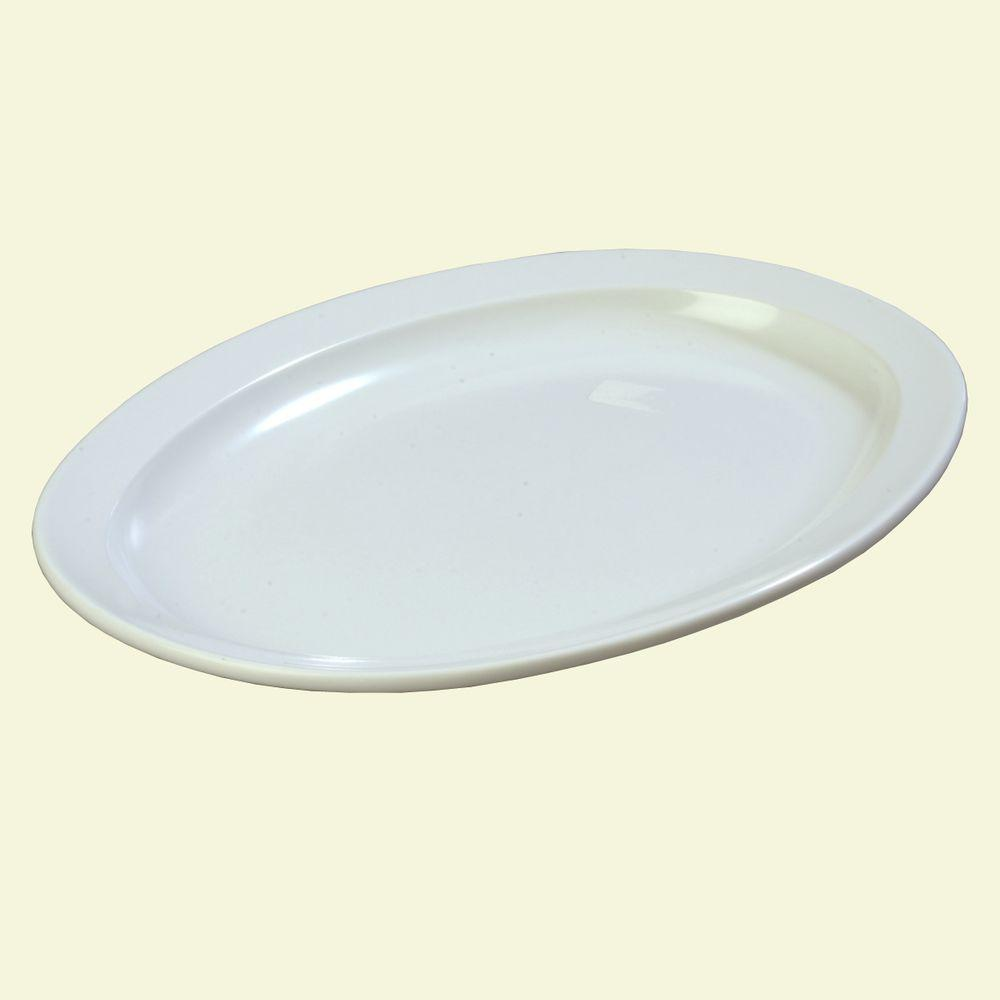 9.75 in. x 13.5 in. Melamine Platter in White (Case of
