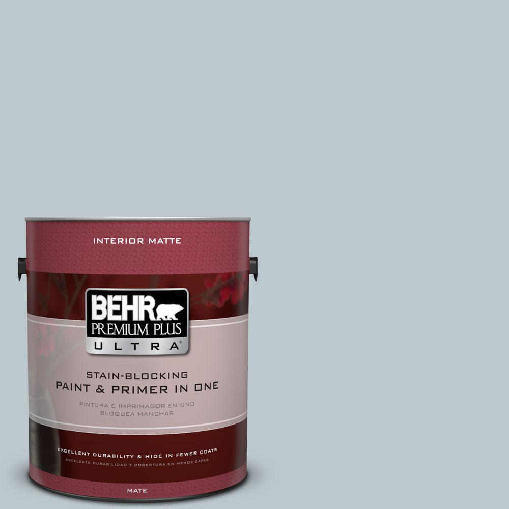 1 gal. #N470-2 Oceanic Climate Matte Interior Paint and Primer in