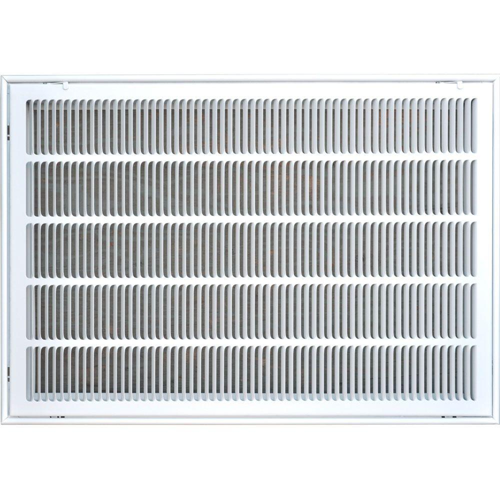 20 in. x 30 in. Return Air Vent Filter Grille, White