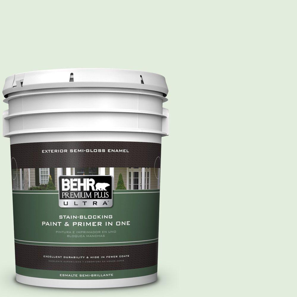 BEHR Premium Plus Ultra 5-gal. #M400-1 Establish Mint Semi-Gloss Enamel Exterior Paint