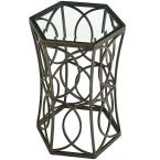 MODWAY Circle 15.5 in. Gold Side Table