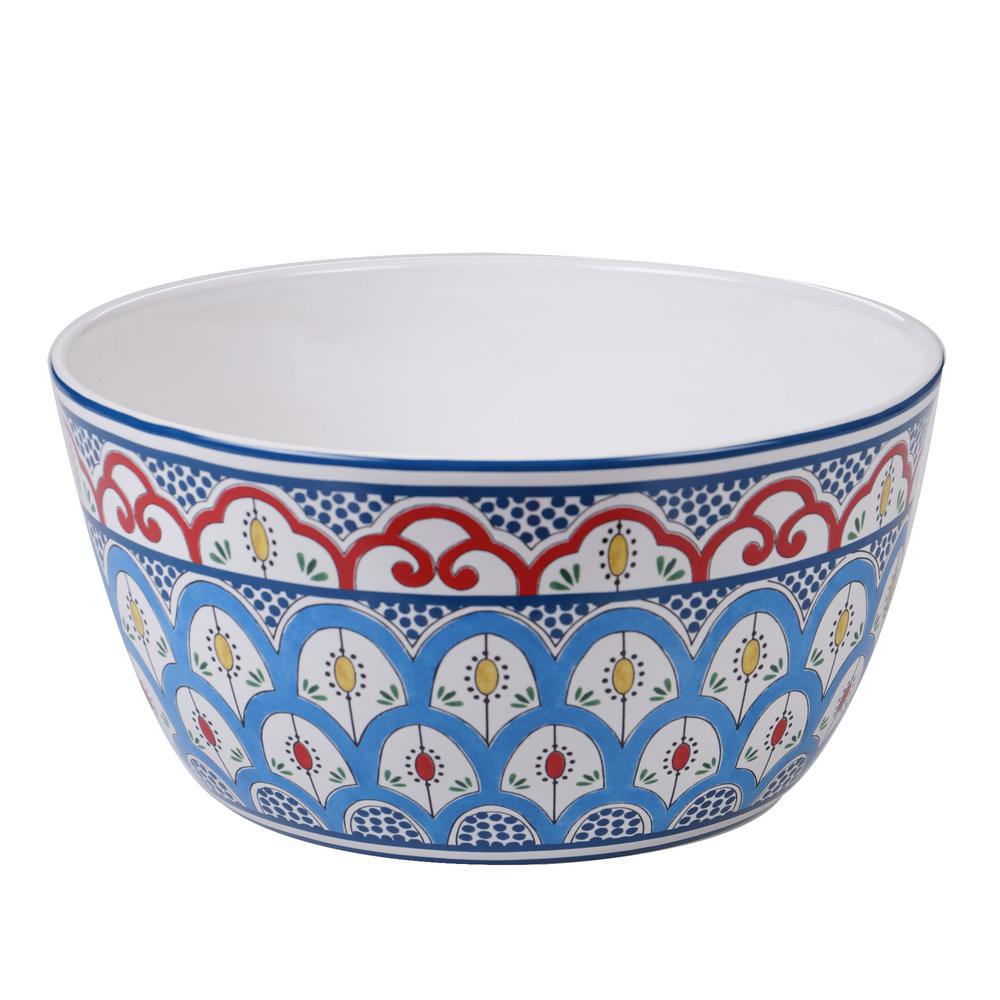Tangier Multi-Colored 11 in. Deep Bowl