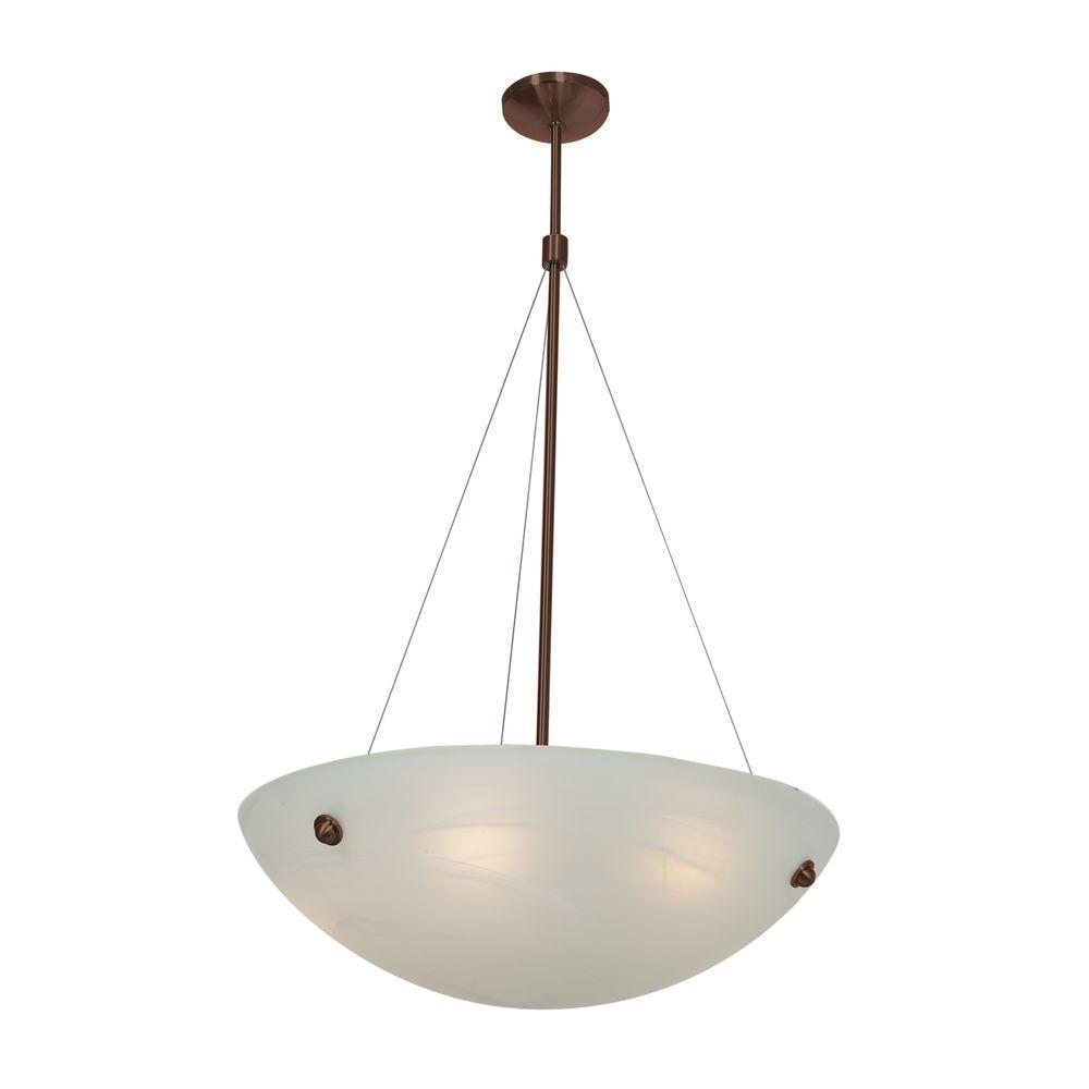 Access Lighting Noya 4-Light Bronze Pendant with Alabaster Shade