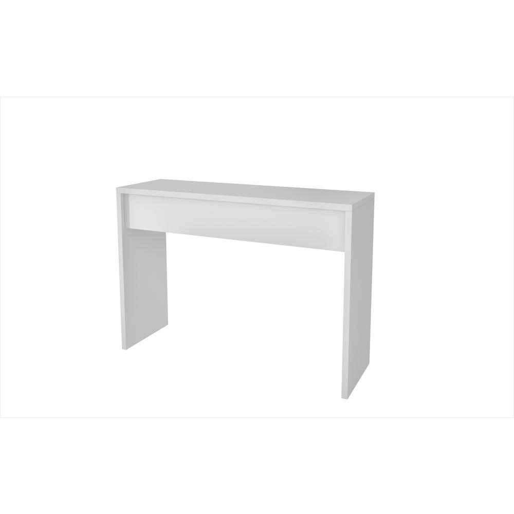 Manhattan Comfort Lazio Classic White Secretary Desk White Matte Product Picture