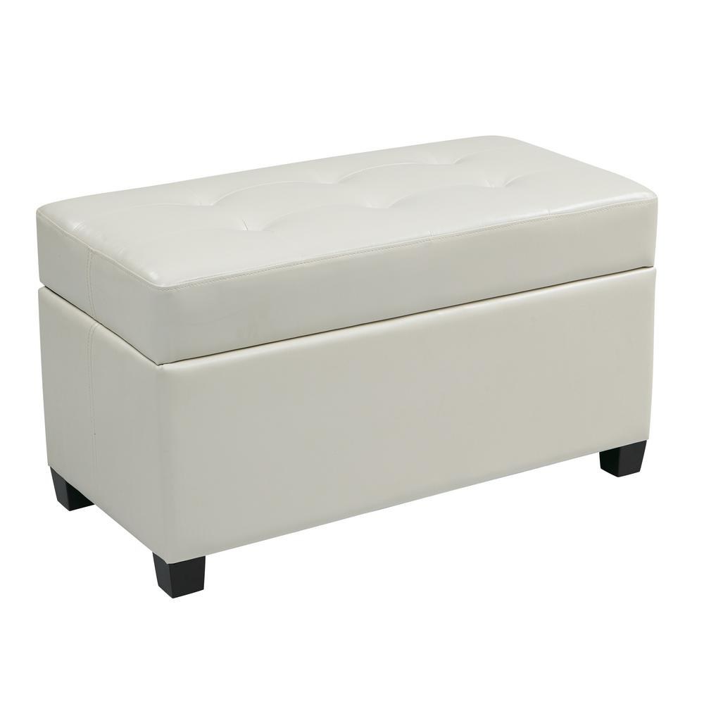 Amazing Details About Ospdesigns Storage Ottoman White Leather Rectangular Living Room Furniture New Beatyapartments Chair Design Images Beatyapartmentscom
