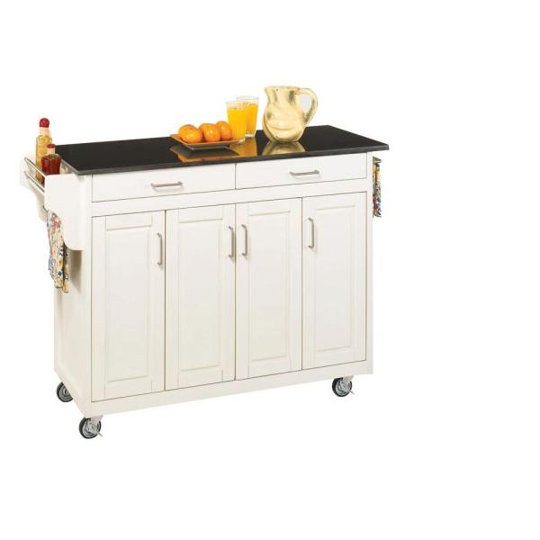 Home Styles Create-a-Cart White Kitchen Cart With Black Granite Top 9200-1024