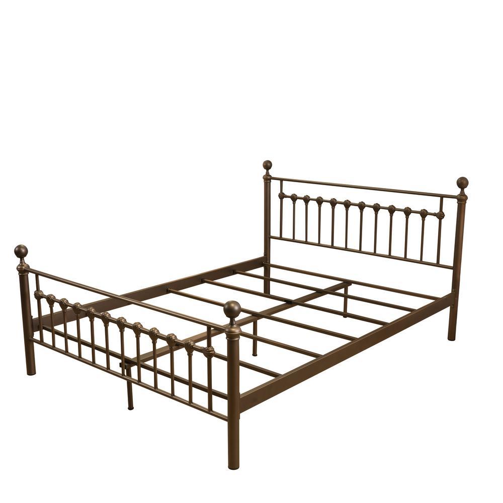 Brown Iron King Bed Frame