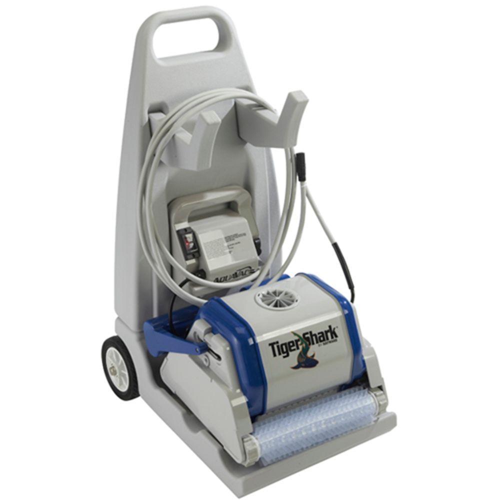 hayward tiger shark robotic pool cleaner with cart. Black Bedroom Furniture Sets. Home Design Ideas