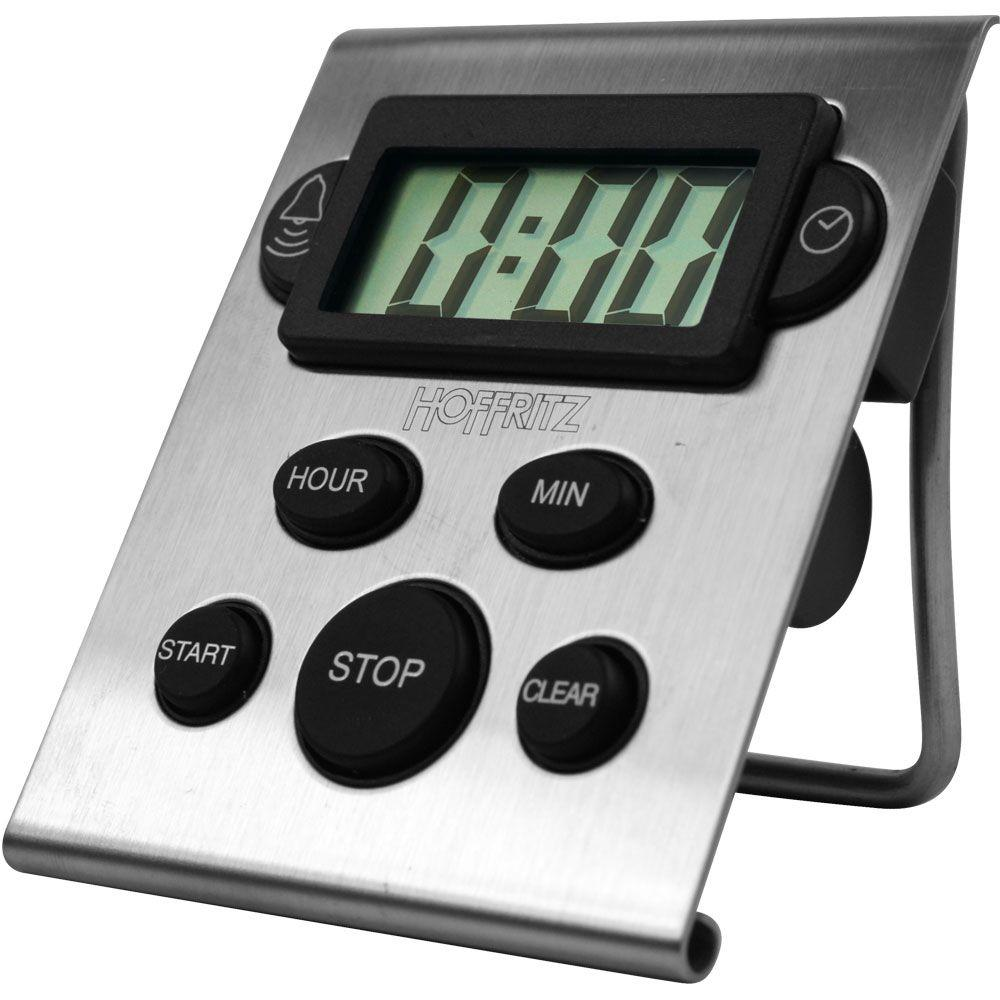 null Hoffritz Digital Stainless Steel Timer and Clock-DISCONTINUED