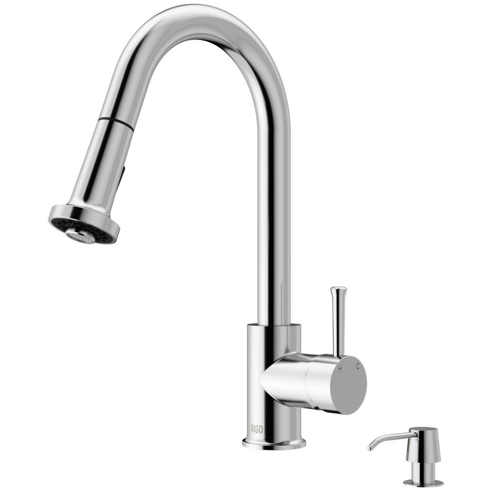 Harrison Single-Handle Pull-Down Sprayer Kitchen Faucet with Soap Dispenser in