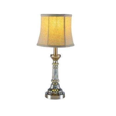 21 in. Brushed Steel Lamp