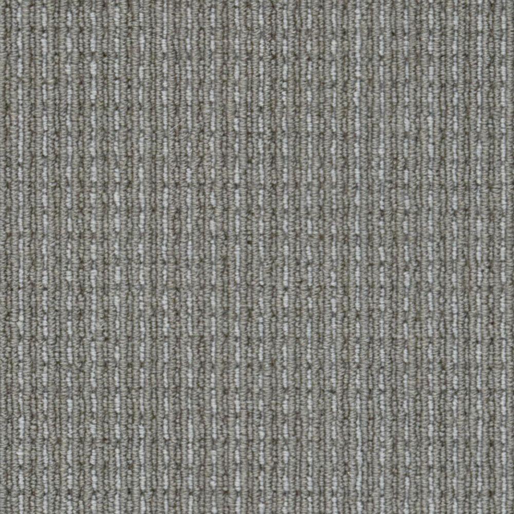 Upland Heights Grey Stone Custom Area Rug with Pad