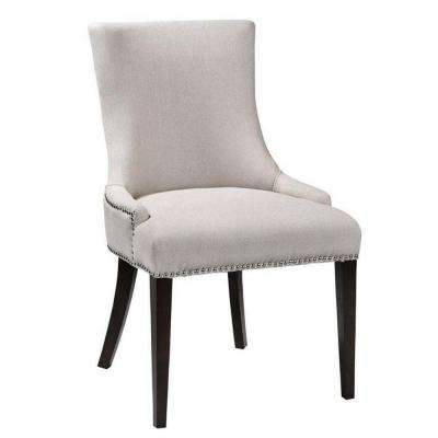 Becca Natural Linen and Leather Dining Chair