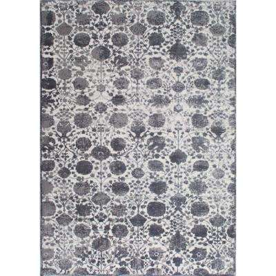 Kenmare Bleu Gray 5 ft. 3 in. x 7 ft. 2 in. Indoor Area Rug