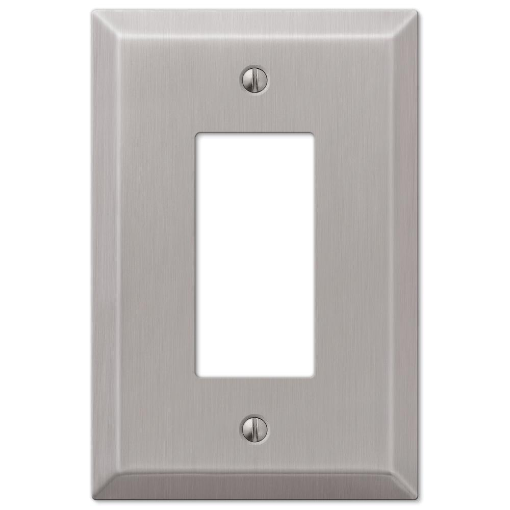 Amerelle Oversized 1 Decora Wall Plate Brushed Nickel
