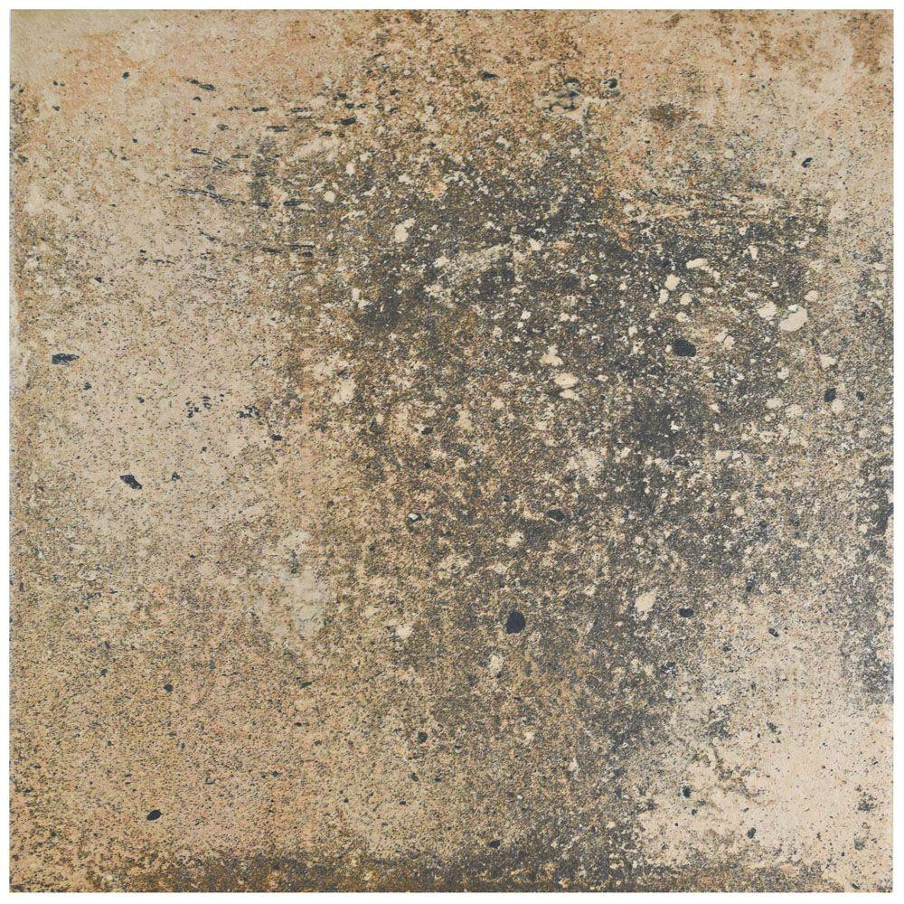 Fankuit Marron 11-7/8 in. x 11-7/8 in. Porcelain Floor and Wall