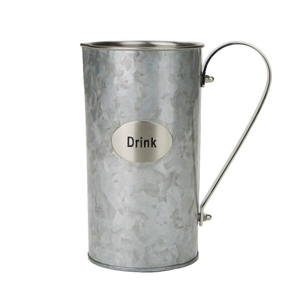 Mind Reader 60 fl. oz. Silver Stainless Steel Water Beverage Pitcher Decorative Double Wall Pitcher