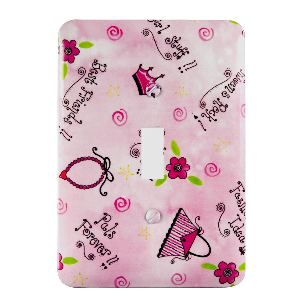 AMERELLE Pink 1-Gang Toggle Wall Plate (1-Pack)