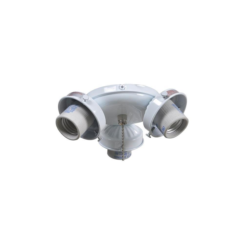 Brookhurst 52 In White Ceiling Fan Replacement Light Kit