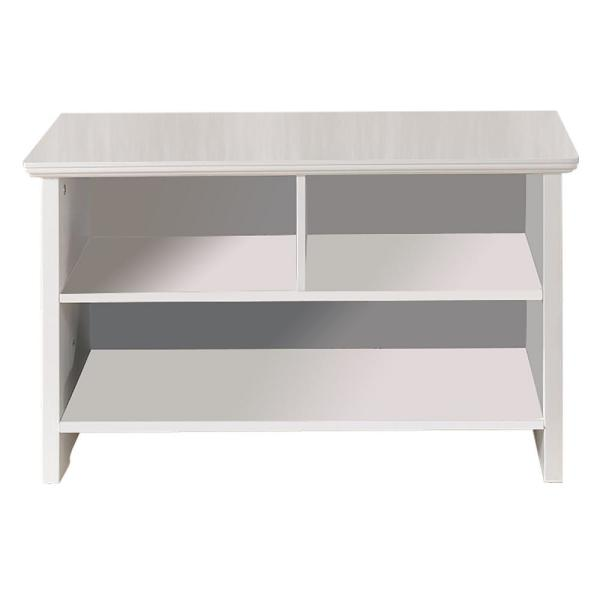 Kings Brand Furniture White Wood Cubby Shoe Storage Bench