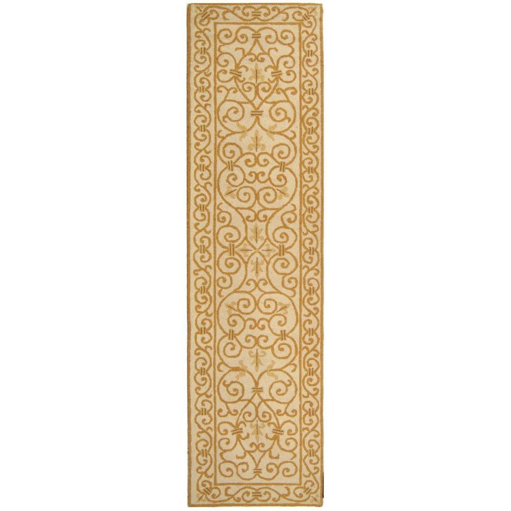 Chelsea Ivory/Gold 3 ft. x 10 ft. Runner Rug