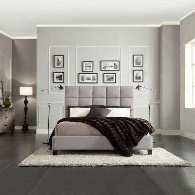 Calais Grey Full Upholstered Bed