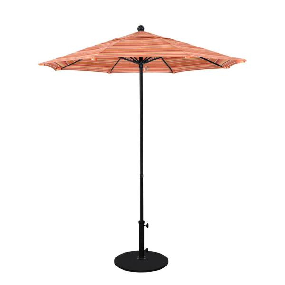 7.5 ft. Fiberglass Pole Market Fiberglass Ribs Push Lift Patio Umbrella in Dolce Mango Sunbrella