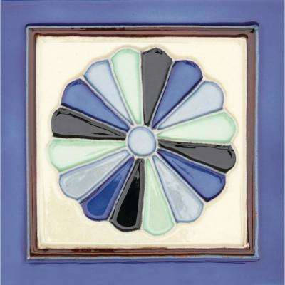 Hand-Painted Ceramic Abanico 6 in. x 6 in. x 6.35 mm Glazed Ceramic Wall Tile (2.5 sq. ft. / case)
