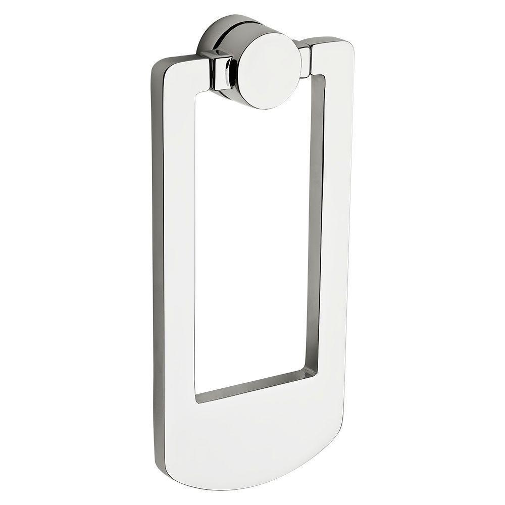Polished Chrome Contemporary Door Knocker