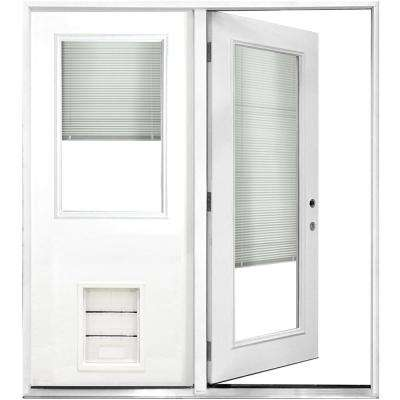 Exceptionnel 72 In. X 80 In. Mini Blind White Primed Prehung Left Hand