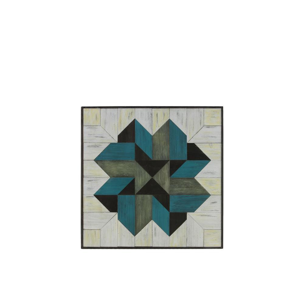 "23.75 in. x 24.75 in. ""Mosaic Lemoyne Star"" Printed Wall Art"