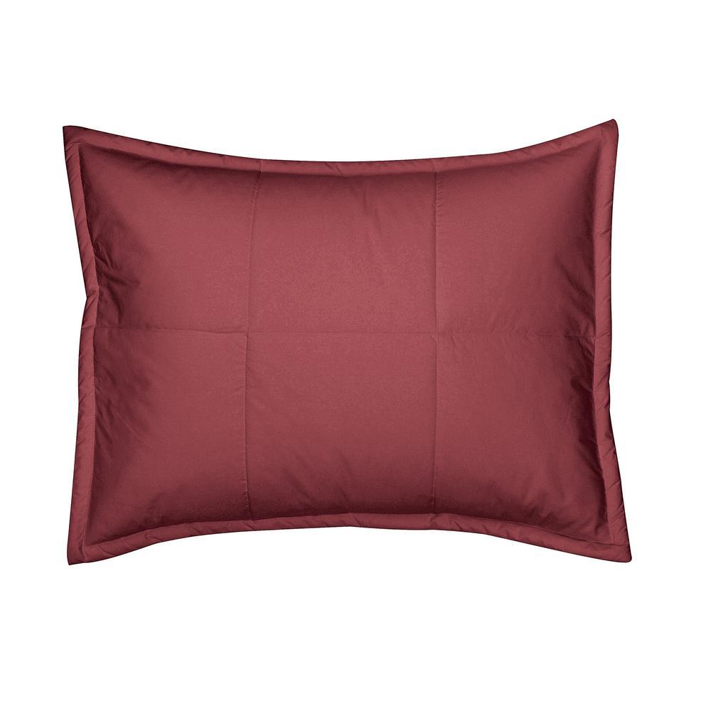 The Company Store LaCrosse Chianti Solid Cotton Standard Sham