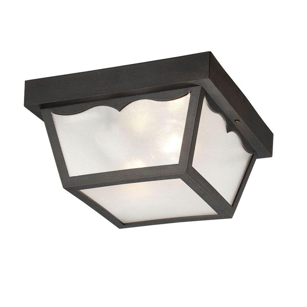 Builder's Choice 2-Light Matte Black Flushmount Ceiling Light
