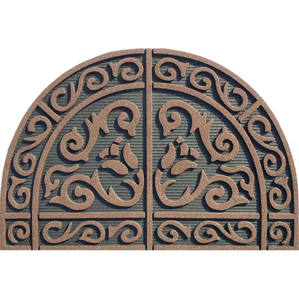 Apache Mills Tulip Scroll Coffee 24 in. x 36 in. Door Mat-60-912 ...
