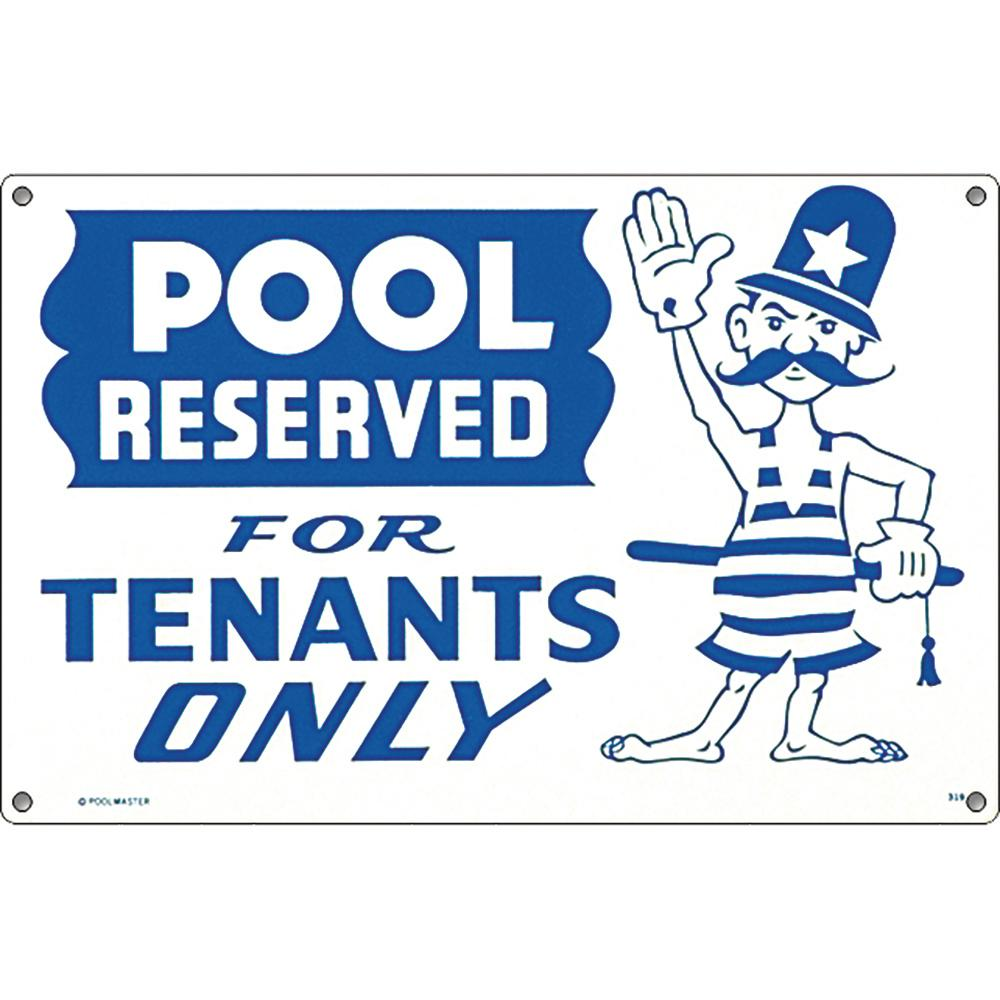Poolmaster Residential or Commercial Swimming Pool Signs, Pool Reserved for  Tenants