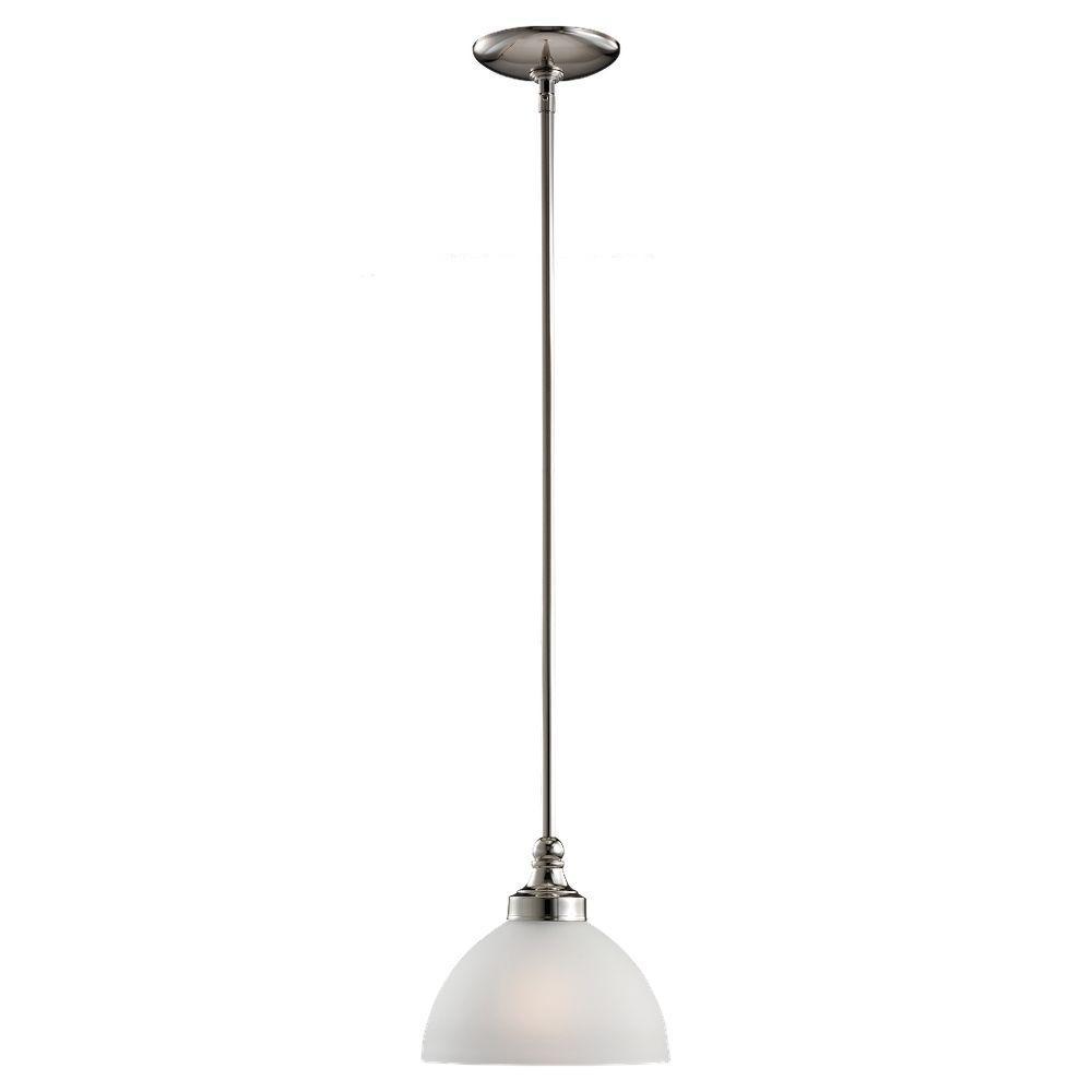 Sea Gull Lighting Wellington 1 Light Polished Nickel Mini Pendant-DISCONTINUED