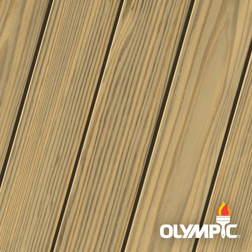 Olympic Elite 1 gal. Tan Semi-Transparent Advanced Exterior Stain and Sealant in One Low VOC