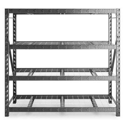 4-Tier Welded Steel Garage Storage Shelving Unit (77 in. W x 72 in. H x 24 in. D)