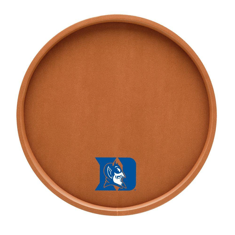 Kraftware Duke 14 in. Basketball Texture Deluxe Round Serving Tray