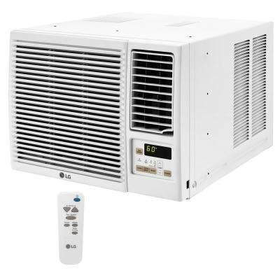 7,500 BTU 115-Volt Window Air Conditioner with Cool, Heat and Remote in White